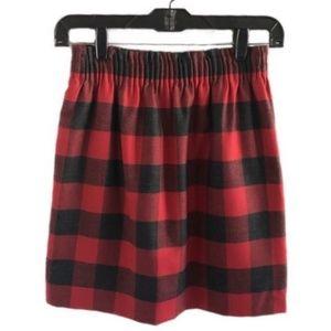 J. CREW buffalo check sidewalk wool blend skirt